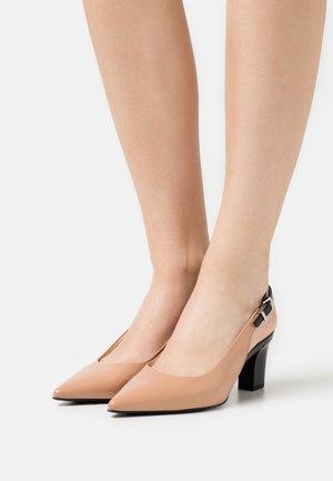 Classic heels - biscotti/schwarz