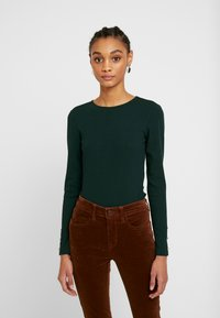 Even&Odd - BASIC BODYSUIT - Topper langermet - olive night - 0