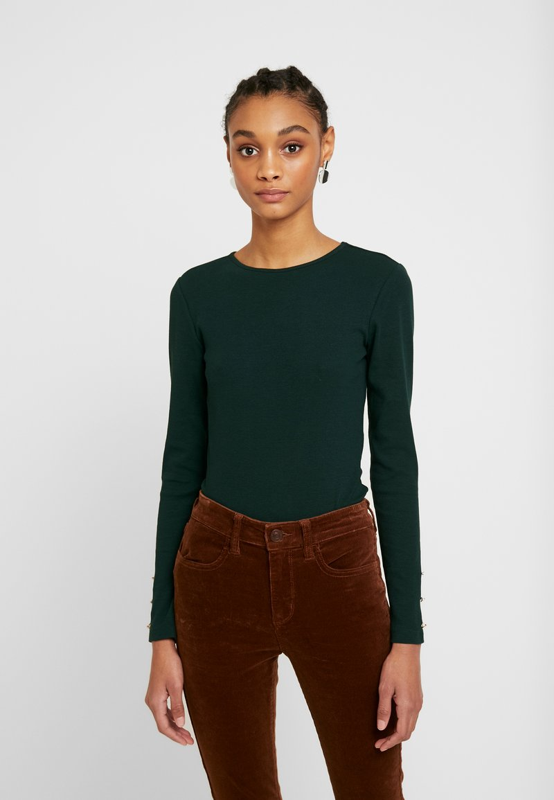 Even&Odd - BASIC BODYSUIT - Topper langermet - olive night