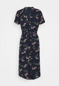 Vero Moda Petite - VMSAGA CALF SHIRT DRESS - Shirt dress - navy blazer/nellie - 0