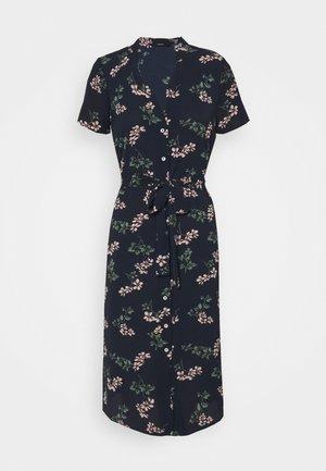 VMSAGA CALF SHIRT DRESS PETITE - Shirt dress - navy blazer/nellie