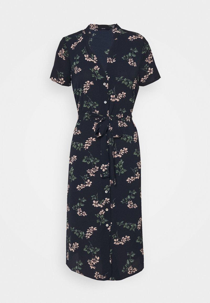 Vero Moda Petite - VMSAGA CALF SHIRT DRESS - Shirt dress - navy blazer/nellie