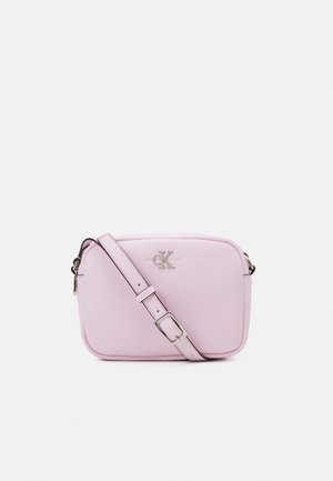 DOUBLE ZIP CROSSBODY - Across body bag - pink