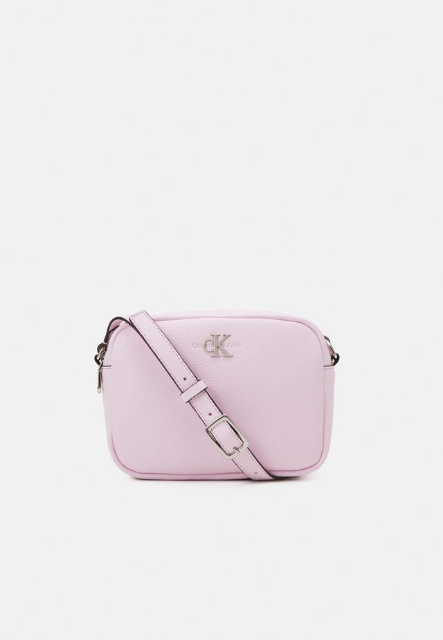 DOUBLE ZIP CROSSBODY - Olkalaukku - pink