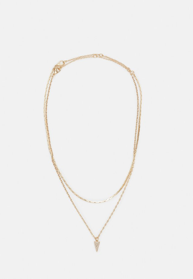 PAVE ROW 2 PACK - Necklace - gold-coloured