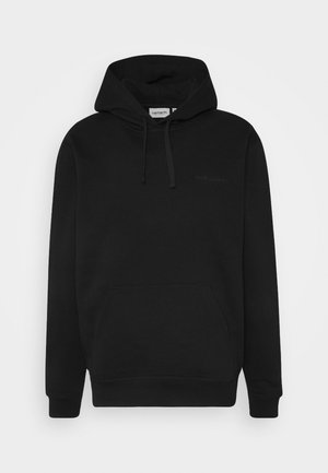 HOODED ASHLAND - Bluza z kapturem - black