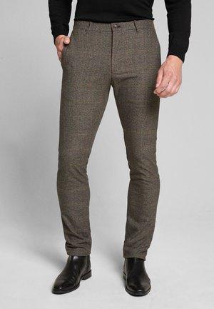 Trousers - hellbraun kariert