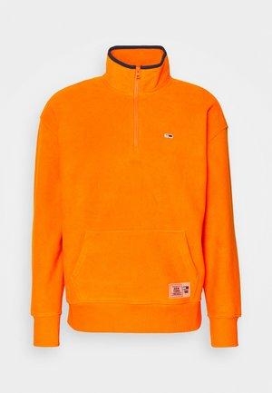 POLAR MOCK NECK UNISEX - Fleece jumper - magnetic orange/navy