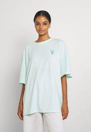 PLAYBOY LOGO DETAIL OVERSIZED - Print T-shirt - green