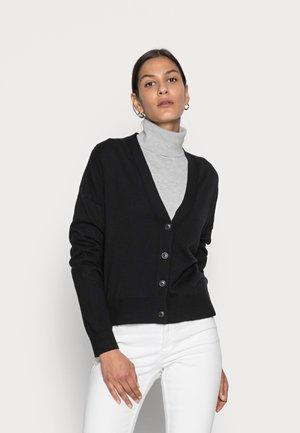 CARDIGAN LONGSLEEVE V-NECK BUTTON CLOSURE - Vest - black