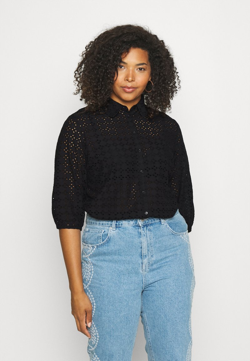 CAPSULE by Simply Be - BRODERIE  - Blouse - black