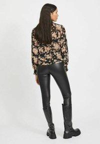 Vila - Button-down blouse - black - 2