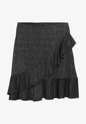GODA  - A-line skirt - silver/black