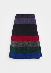 Victoria Beckham - STRIPED MINI SKIRT - Jupe trapèze - multi-coloured - 0