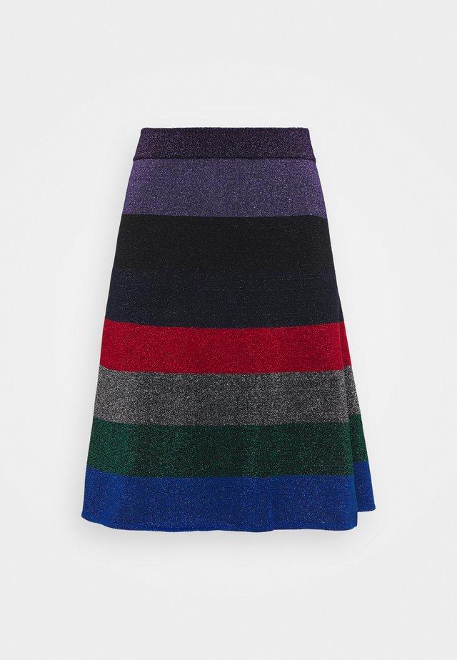 STRIPED MINI SKIRT - Falda acampanada - multi-coloured