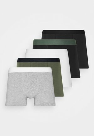 5 PACK - Panties - black/khaki/mottled grey