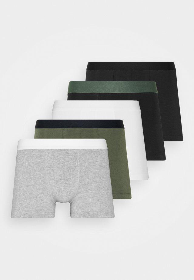 5 PACK - Culotte - black/khaki/mottled grey