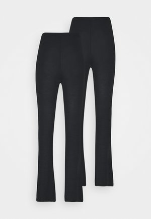 FLARE TROUSERS 2 PACK - Bukse - black