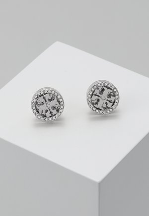LOGO CIRCLE  EARRING - Earrings - silver/crystal