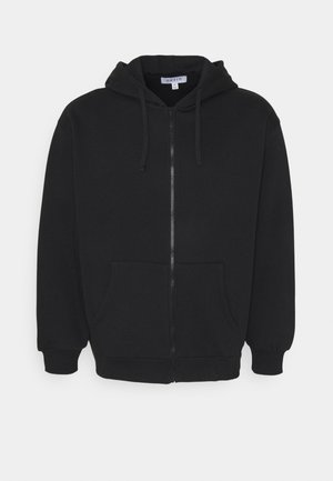 PLUS ZIP UP HOODIE - Felpa aperta - black
