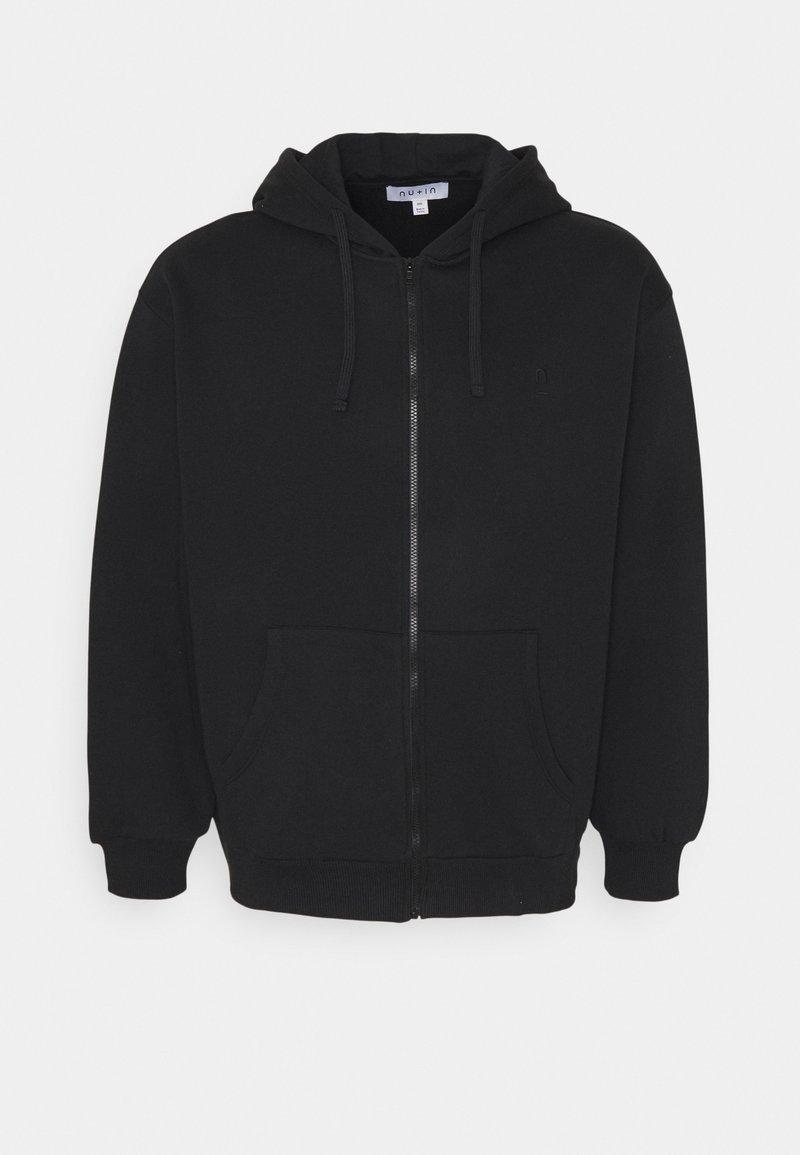 NU-IN - PLUS ZIP UP HOODIE - Zip-up hoodie - black