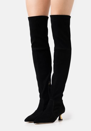 MAX BOOT - Over-the-knee boots - black/gold