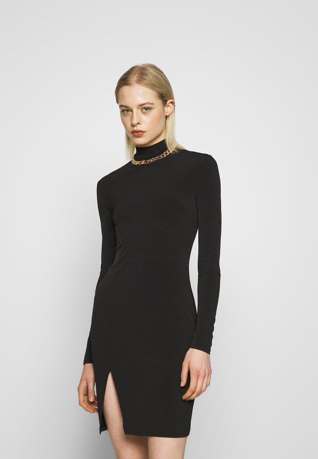 THIGH SPLIT DRESS - Vestido de tubo - black
