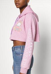 NEW girl ORDER - LOGO CROP HOODY - Sweatshirt - pink - 5