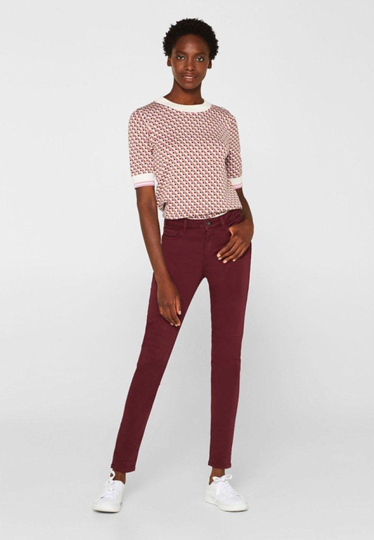 Esprit - SUPERSTRETCH - Jeans Skinny Fit - garnet red