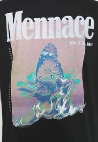 Mennace - BUTTERFLY GRAPHIC - Print T-shirt - black - 6