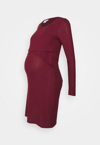 CARMA JUNE DRESS - Jerseykjole - tawny port