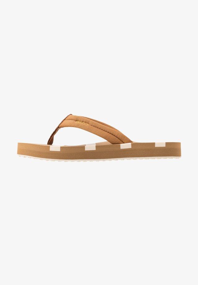 LEMON BEA - T-bar sandals - fudge caramel