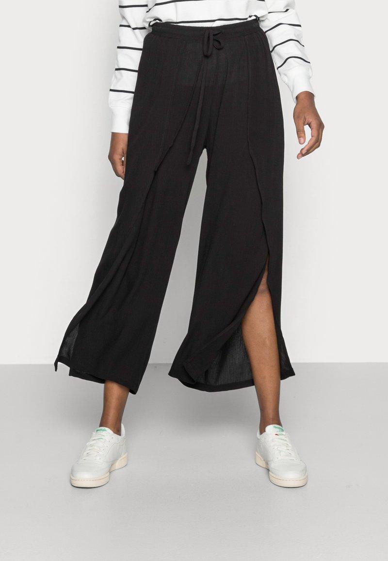 Cream - ALLIE PANTS - Kalhoty - pitch black