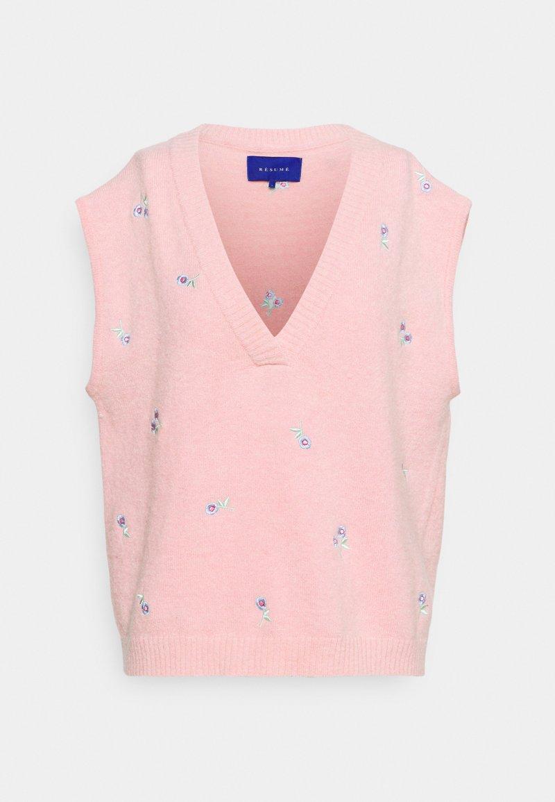 Résumé - DALLI VEST - Jumper - pink