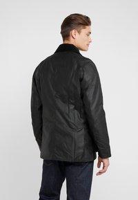 Barbour - ASHBY WAX JACKET - Summer jacket - black - 2