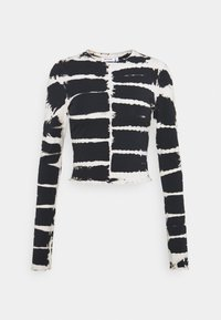 Weekday - SENA TIE DYE LONG SLEEVE - Topper langermet - black/white - 0