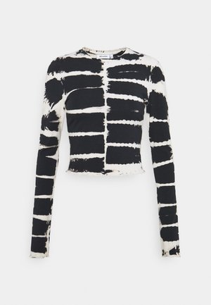 SENA TIE DYE LONG SLEEVE - T-shirt à manches longues - black/white
