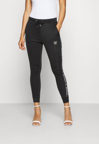 SIKSILK - SIKSILK ARC TECH CROPPED TRACK PANTS - Joggebukse - black - 0