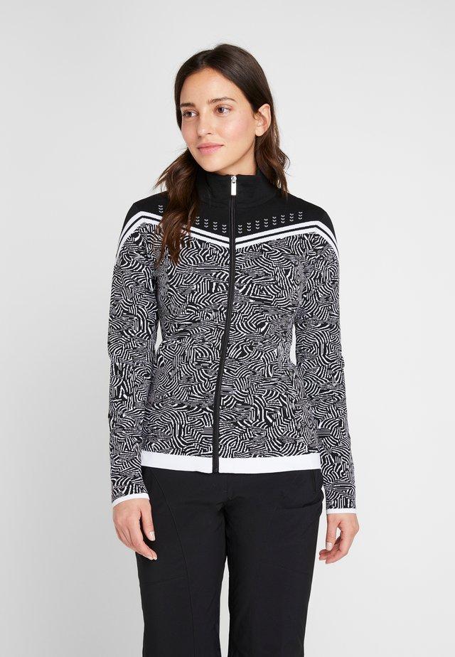 EMELLE - Zip-up hoodie - black/white