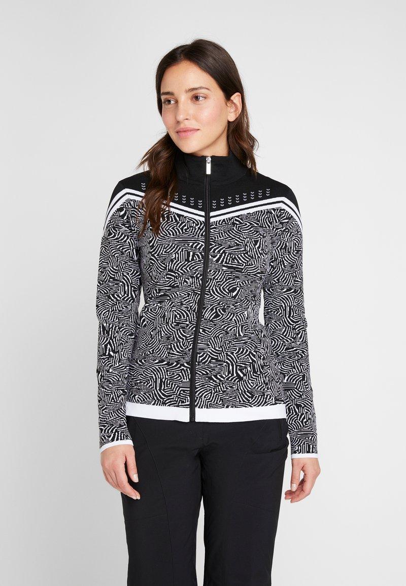 Icepeak - EMELLE - Zip-up hoodie - black/white