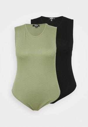 BODYSUIT 2 PACK - Top - black/khaki