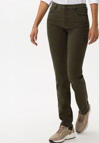 BRAX - STYLE CAROLA - Trousers - dark olive - 0