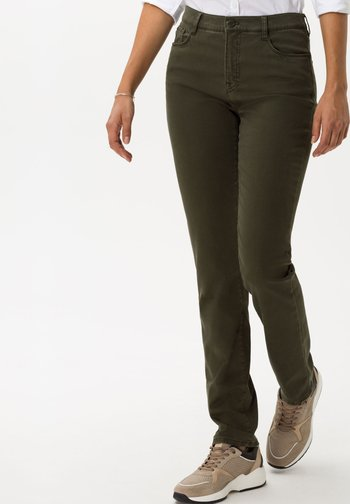 STYLE CAROLA - Trousers - dark olive