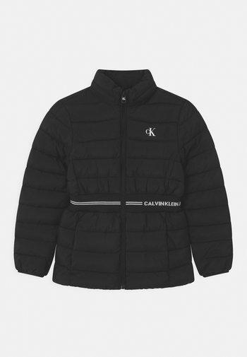 INTARSIA LOGO - Winter jacket - black