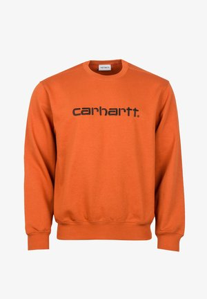 Sweatshirt - cinnamon / black