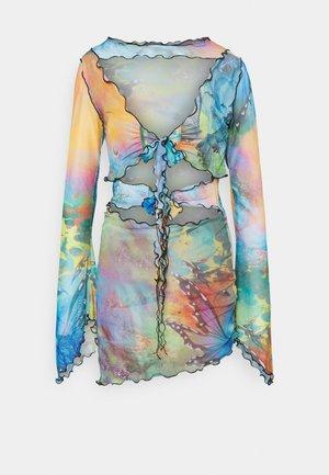 TIE FRONT DRESS MIX FAIRY PRINT - Cocktailkjole - multi