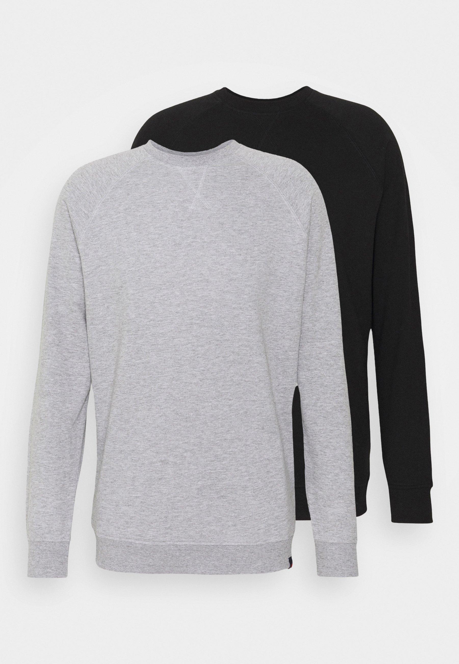 Herren BASIC CREW 2 PACK - Sweatshirt