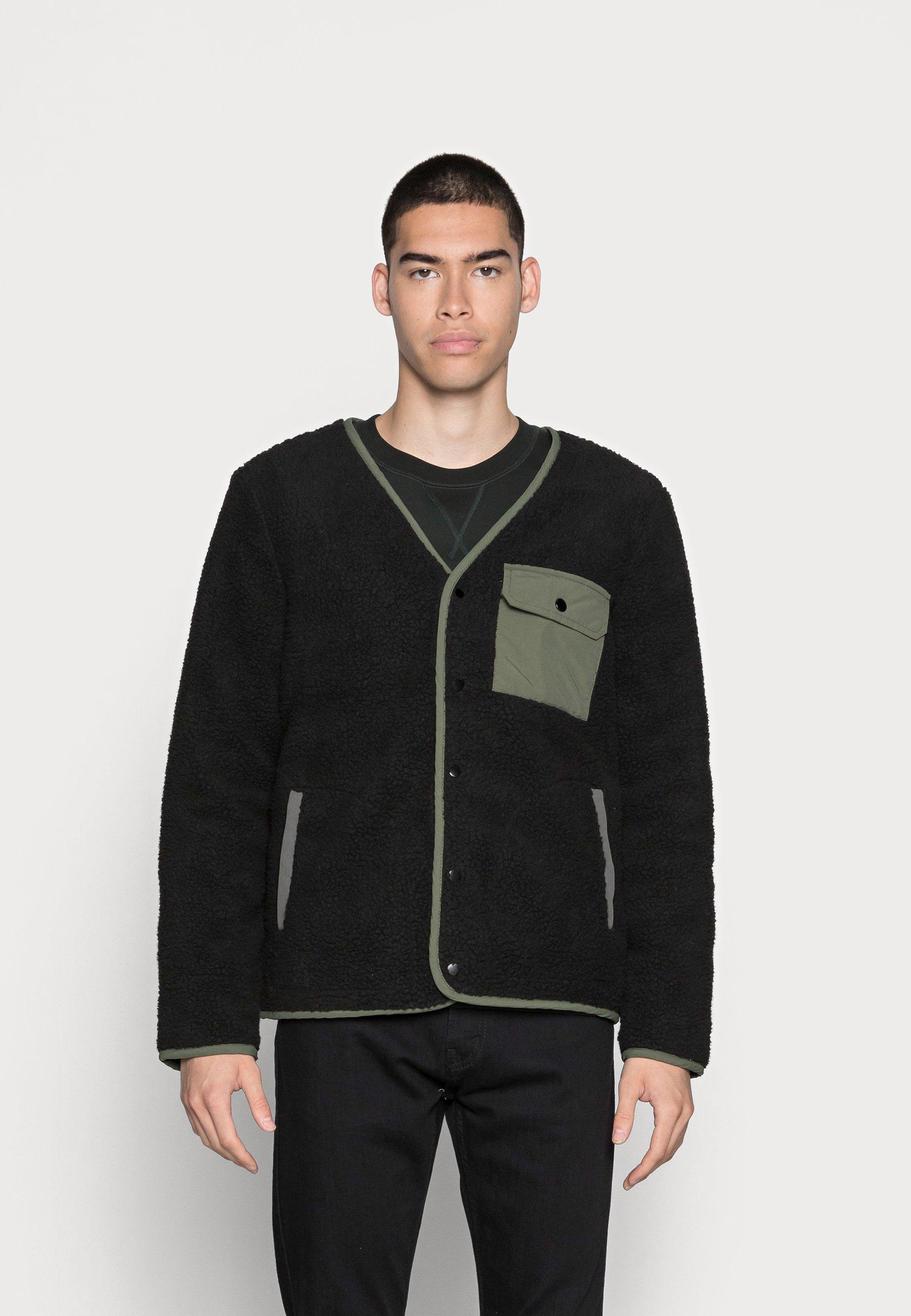 Men BORG WITH CONTRAST POCKERLINER JACKET - Light jacket