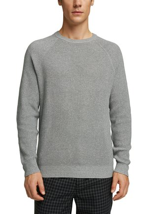 Strikpullover /Striktrøjer - medium grey