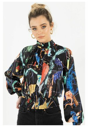 Zibi London Bedrucktes Zimmer - Button-down blouse - schwarz
